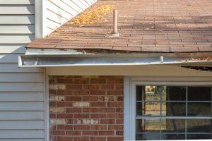 roof gutter damage