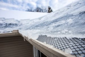 ice forming over gutters